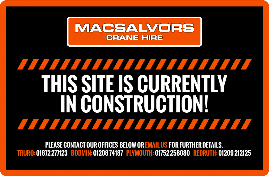 Macsalvors Crane Hire - Please contact us for further details